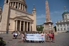 Proteste vor dem Potsdamer Landtag (mit Unterstützung des Researchstrejks)